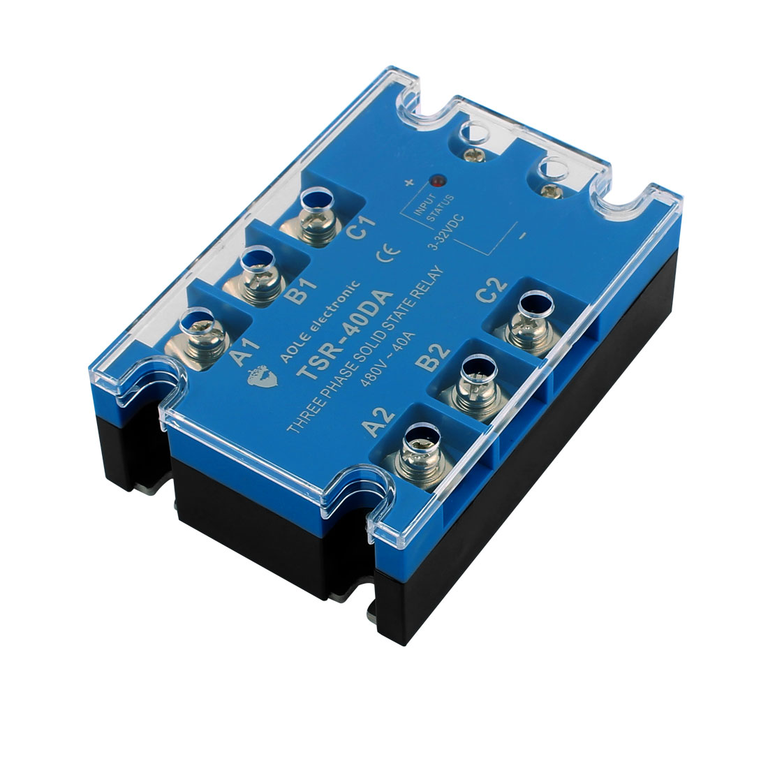ФОТО Tsr-40Da 3-32Vdc To 480Vac 40A Three Phase Solid State Relay Module  To Ac