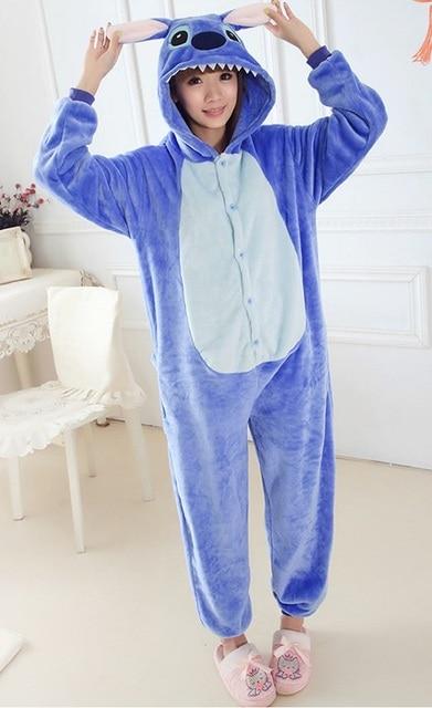 Blue Stitch Onesie Pajamas Pajama Adult Unisex Cosplay