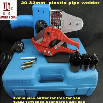Ppr pipes welding machine 20-32mm to use plastic handle AC 220/110V 600W Plumbing tools universal temperature controled 20 32mm ppr welding machines plastic tube welding fusion welder 110v us power plug to use
