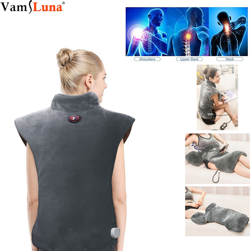 Multifunctional Massager Vibration Heating Electric Pad  Waist Neck Soft Neck Shoulder  Therapeutic, Soothing Pain Relief