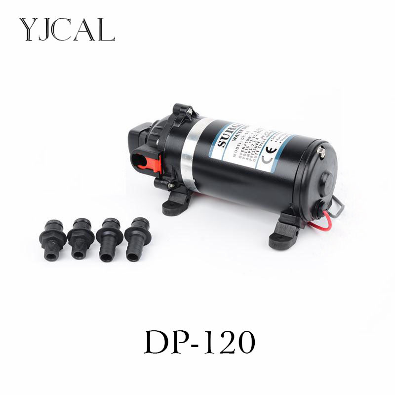 Water Booster Fountain DP-120 12v High Pressure Diaphragm Pump Reciprocating Self-priming RV Yacht Aquario Filter Accessories 2015 new high performance dp 150 150psi 40w 24v dc pump self priming pump washing car diaphragm pump