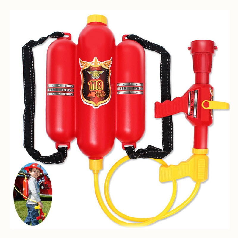 Child Summer Beach Gaming Water Gun Toys Backpack Water Gun Outdoor Backpack Fireman Toy For Kids