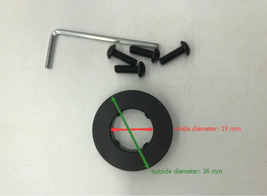 Tapa frontal de aluminio negro TriRock para M4 guardamanos de carril cuádruple 36 mm de diámetro de salida envío gratis