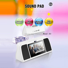 2016 New Bluetooth Wireless Speaker Smart Sound Pad S1 with WIFI Android IPS Touch Screen for Video Audio Altavoz Alto-falante