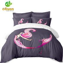 Розовое постельное белье Русалочка набор для девочек с красочными