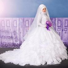 kejiadian vestidos de casamento Long Sleeve Wedding Dress