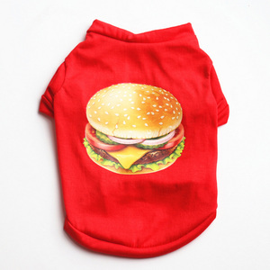 Pet Dog Shirts Spring Summer Puppy Clothes for Small Dogs Cat Spring Dog Vest Pet Hamburger Pajama Outfit for Pet Clothing 3a50(China)