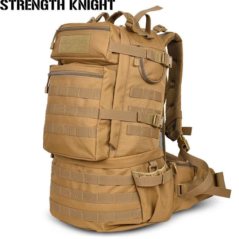 Классический рюкзак в Военном Стиле 50л нейлон водостойкий лагерь походный, Треккинговый камуфляжные Рюкзаки большой емкости мужская сумка