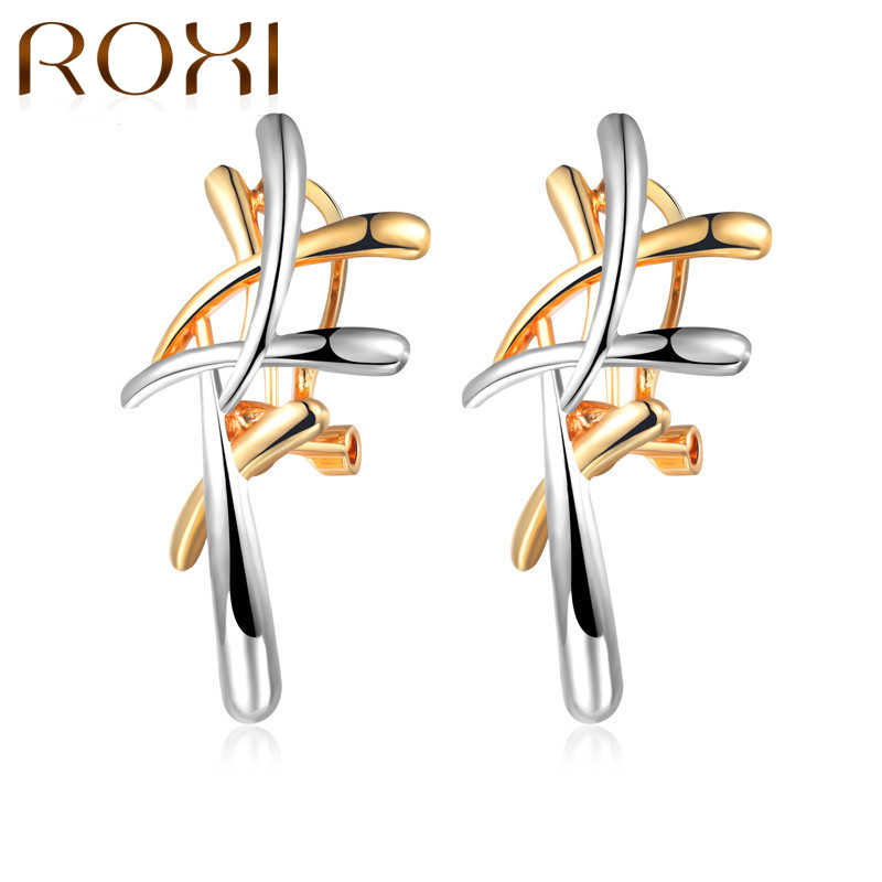ROXI 2018 Silver/Gold Color Metallic Cross Earrings Statement Punk Style Female Pendant Dangle for Women Party Jewelry oorbellen
