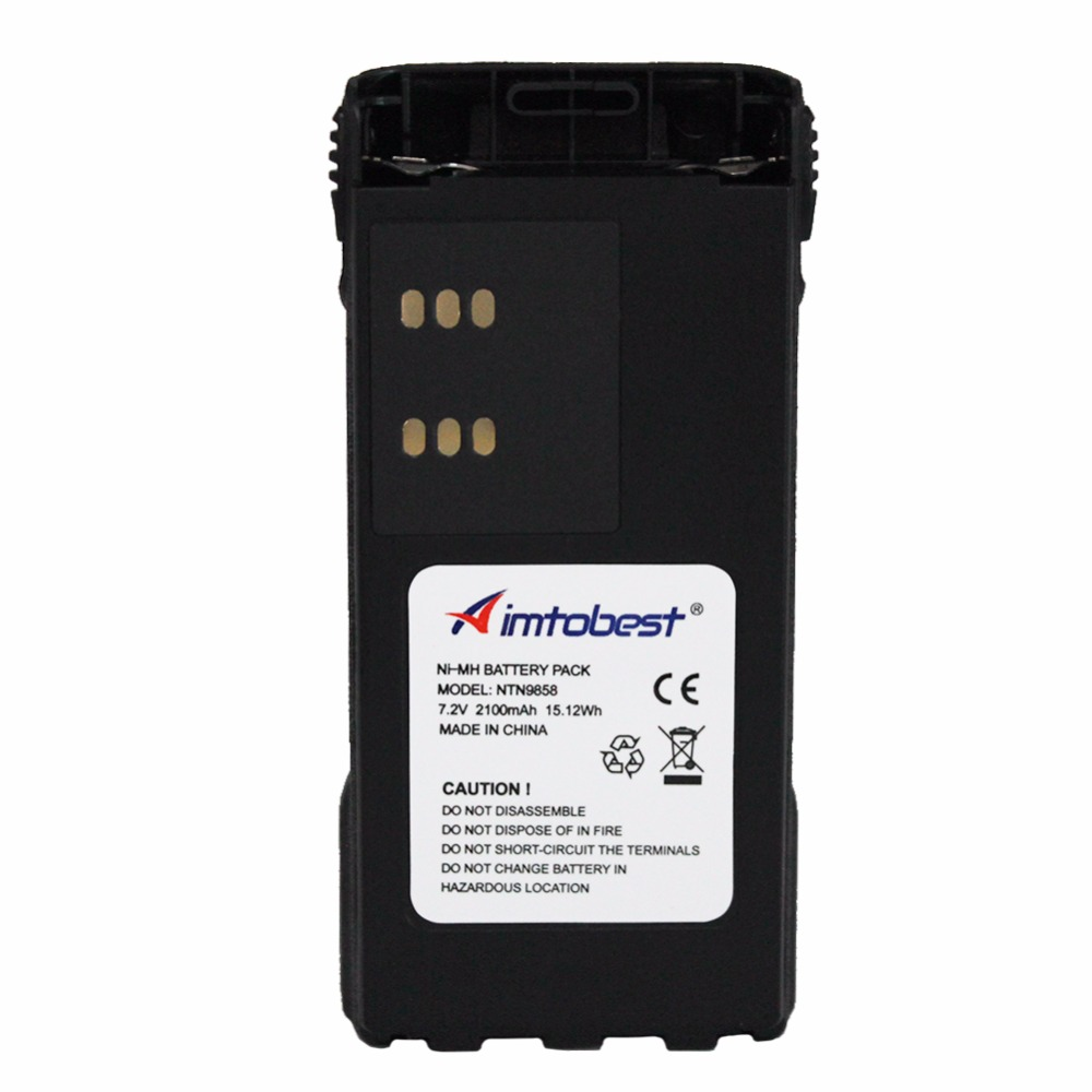 NTN9858 2100mAh Ni-Mh Battery For MOTOROLA Radio XTS1500 XTS2500 MT1500 PR1500 NNTN7554 NTN9815 NTN9816 NTN9857 NTN9858C Battery