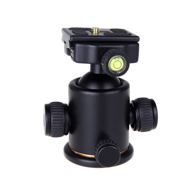 """10X BEIKE Camera Tripod Ball Head BK-03 With Quick Release Plate 1/4"""" Screw /36MM Ball /Level / Panoramic Splicing Head For SLR"""