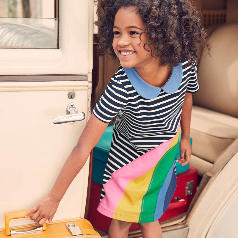 Baby Girl Clothes Vestidos Kids Dresses for Girls Summer Dress Striped Animal Children Clothing Girls Party Dress Kids Dress girls dresses baby girl long sleeve dress new autumn cotton denim dress for girls children costumes vestidos kids clothes