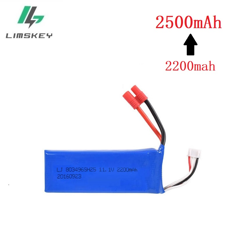 Upgraded Battery For BAYANGTOYS X16 X21 X22 11.1V 2200mah To 2500mah For X16 X21 Battery For RC Quadcopter Spare Parts 803496