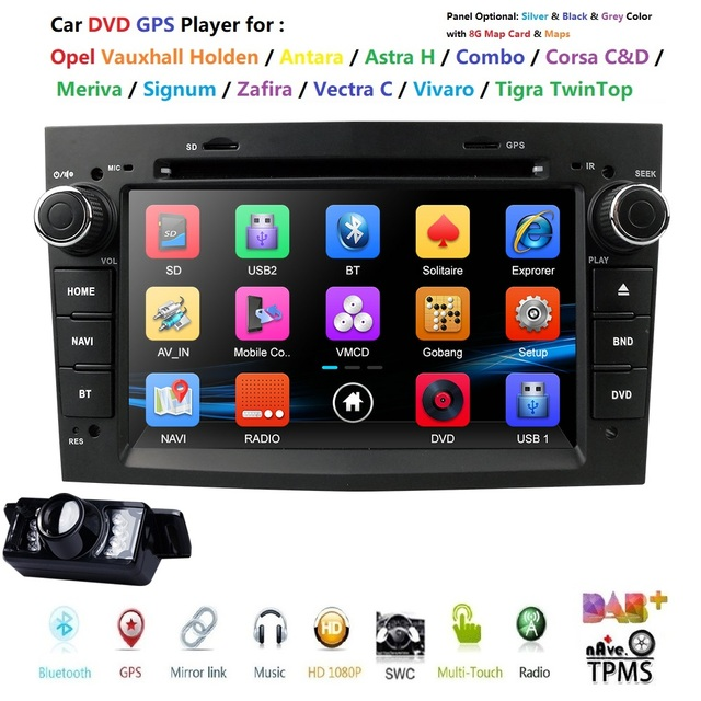 "7"" HD Touch Screen Car DVD Player GPS Navigation System For Opel Zafira B Vectra C D Antara Astra H G Combo DAB+ BT Radio Stereo"