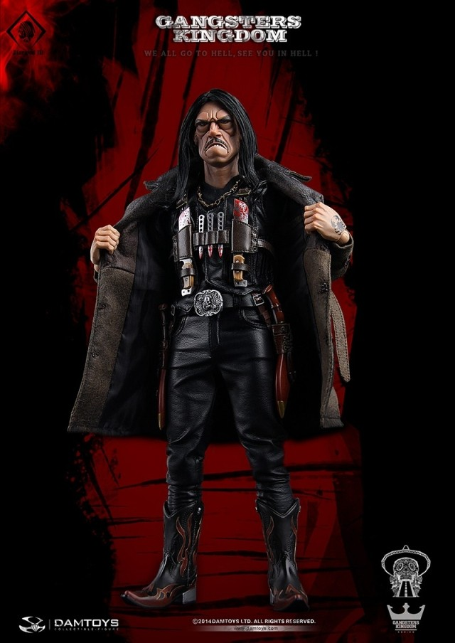 1/6 <font><b>Gangsters</b></font> <font><b>Kingdom</b></font> Diamond 3 GK006 Danny Trejo Machete 12inch Collection Action Figure With Body Head Sculpt m3n image