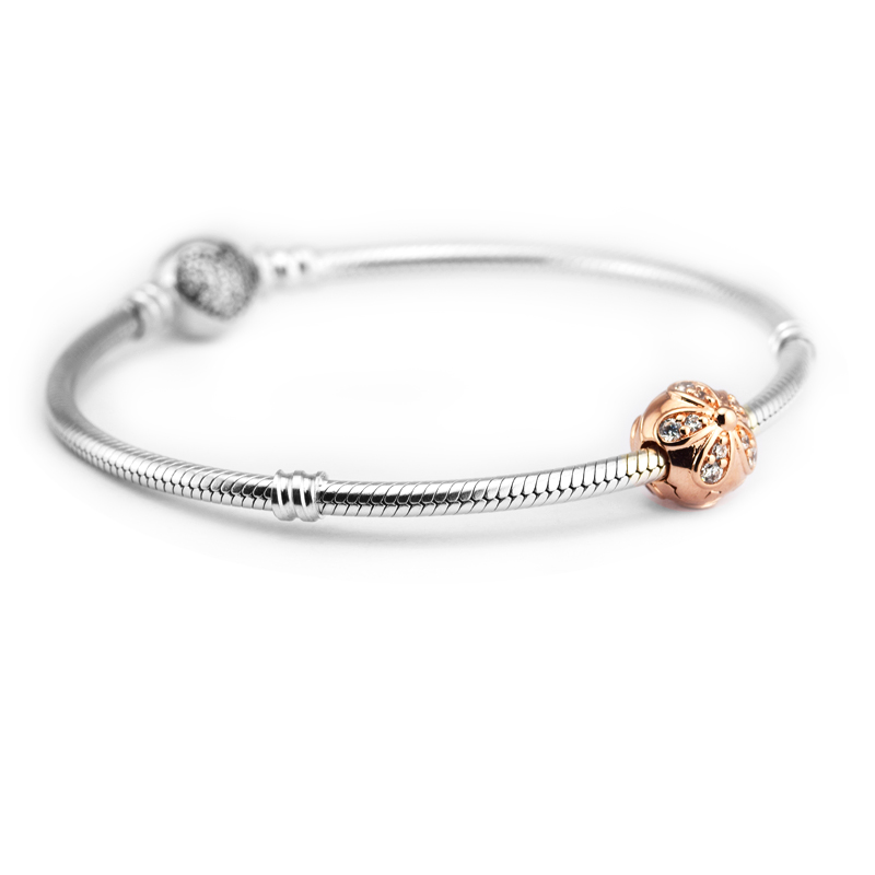 b4be697fe Fits For Pandora Bracelets Dazzling Daisies Clip Charms with Rose Gold  Color 100% 925 Sterling Silver Jewelry Beads Free Ship-in Beads from  Jewelry ...