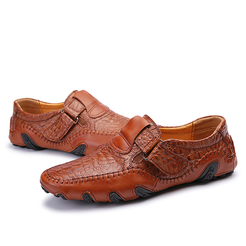Hommes Mocassins Chaussures Mode Automne Loisirs Noir De En Conduite Casual 2017 Printemps Cuir marron Homme Nouveau r0Fr5qR