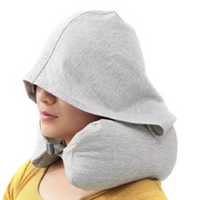 U pillow travel hooded detachable neck cushion plane fight for airplane VU001