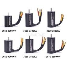Motor sin escobillas para coche a control remoto, Motor impermeable para camión a control remoto 3650 3900KV 4300KV / 3660 3300KV 3800KV / 3670 2150KV 2650KV para 1/8 1:8 1/10 1:10, 1 Uds.
