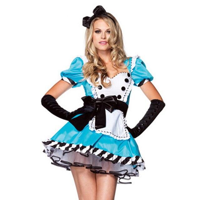 Halloween Cosplay Alice In Wonderland Costumes Women Sexy Fancy
