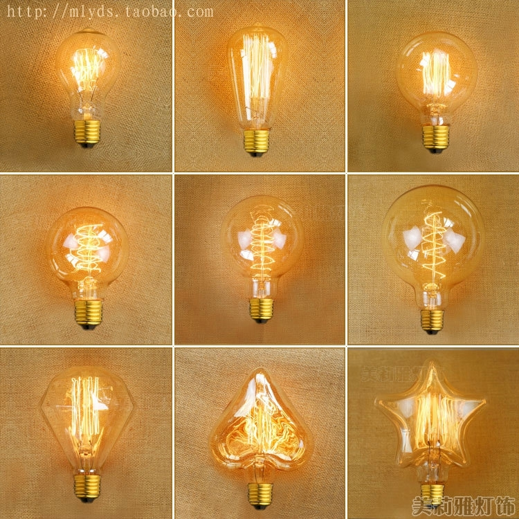 Bombilla Lampada Edison Bulb Light Vintage Retro Lamp Bulb Ampoules Decorativ...