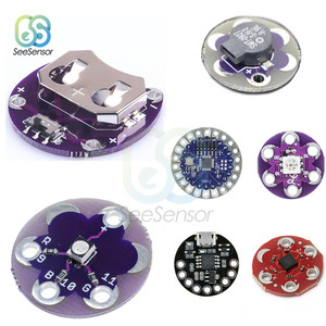 ATmega32U4 LilyPad для Arduino Наборы «сделай сам» Micro USB ATtiny85 LilyTiny материнская плата светодиодный зуммер WS2812 RGB CR2032 ADXL335