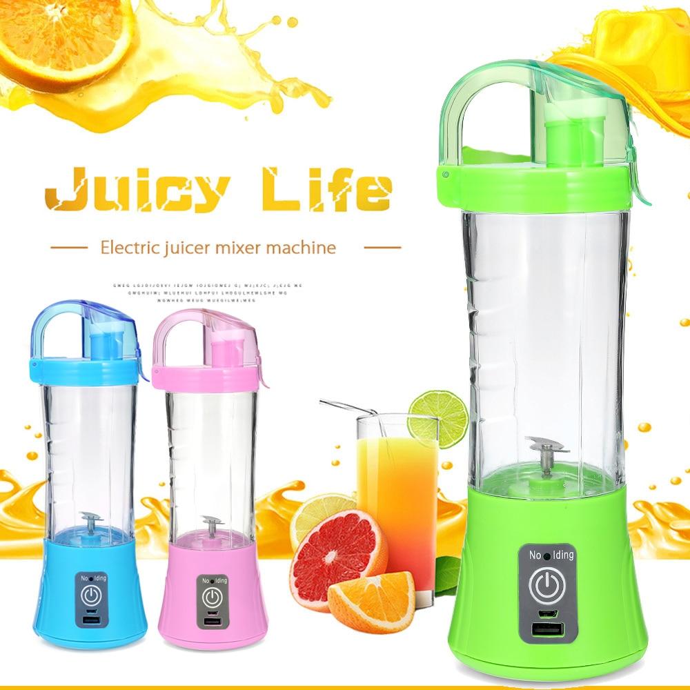 400ml Portable Blender Juicer Cup USB Rechargeable Electric Automatic Vegetable Fruit Citrus Orange Juice Maker Cup Mixer Bottle