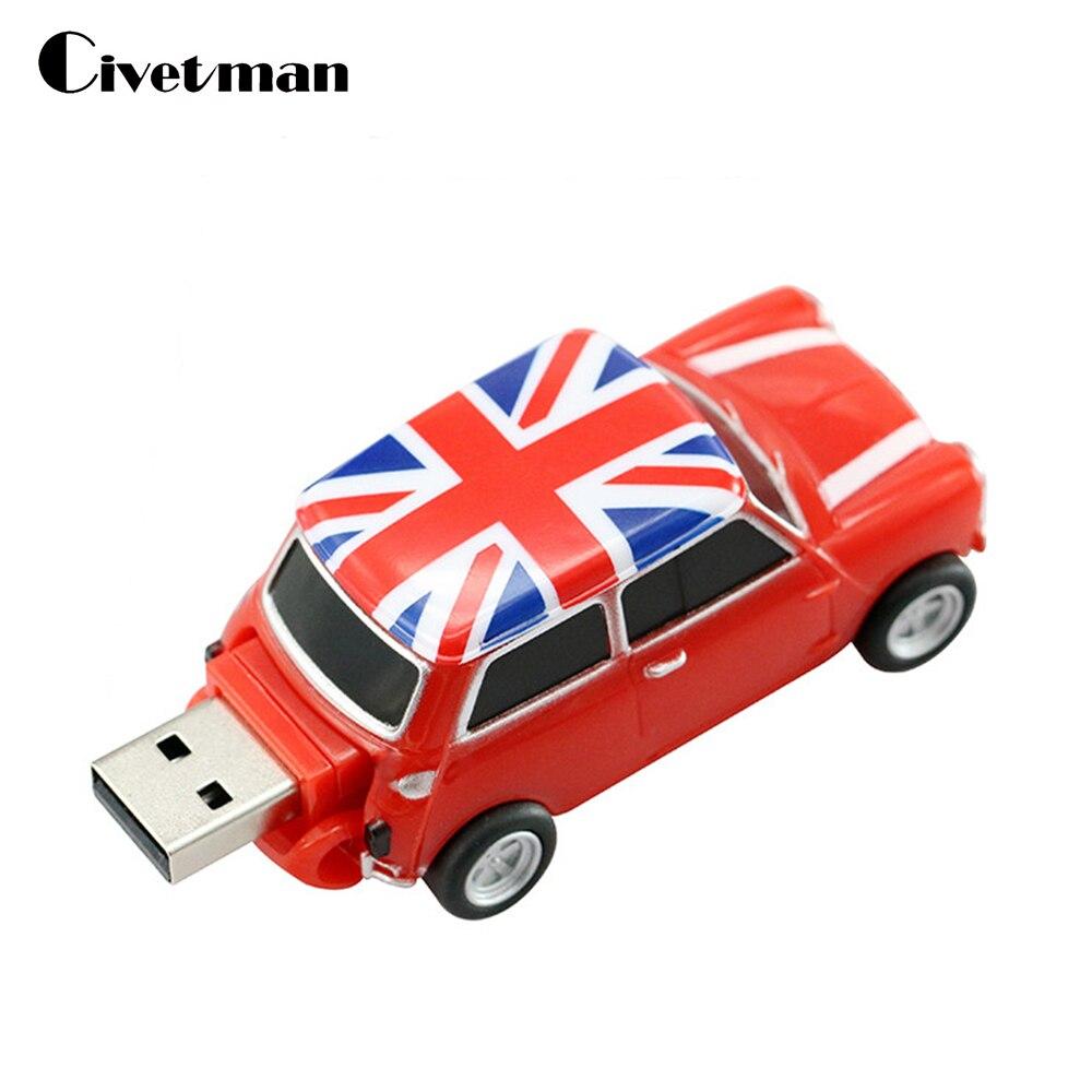 Nouveau USB Flash Drive Élégant Angleterre Voiture Cool Creative Cadeau 8 GB Memory Stick 16 GB Clé usb De Stockage Externe 32 GB USB Mémoire disque