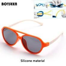 e4b1ffcbb BOYSEEN Polarizada Óculos De Sol Crianças Flexíveis Óculos Moldura Quadrada  UV400 Sun Glasses Oculos de sol Do Bebê Infantil 843