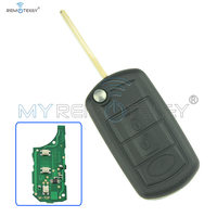Flip Remote Car Key 3 Button 434 Mhz Hu92 With Id44 Chip For Landrover Lr4 Smart Remote Car Key Remtekey
