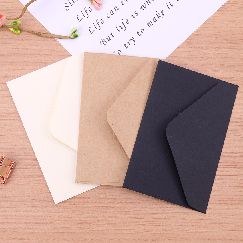 20PCS Mini Kraft Paper Envelope Wedding Gift Envelopes School And Office Supplier Stationery