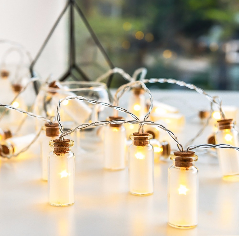 glass jar lighting liquor novelty glass jar mini battle led string lights with 20 battery operated for wedding party fairy christmas deocrationin from