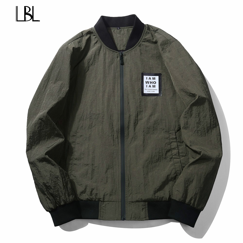 US/Eur Plus Size Overcoat New 2018 Jacket Men Fashion Casual Loose Mens Jacket Sportswear Bomber Jacket Camo Army Green Coat Men