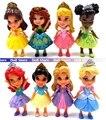 5 шт./лот случайных отправить 8 - 9 см оригинальный catoon аниме принцесса анна / эльза / золушка / русалка / белоснежка фигурку малыш игрушки для девочки