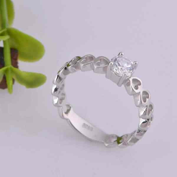 2016 זוג חדש טבעת cz טבעת מאהב לב צלב נחמד vashiria נחמד אופנה תכשיטי זהב מצופה 925 טבעת נישואים j391