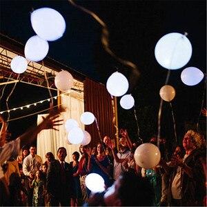 Image 4 - 100 ADET LED düğün parti balonlar beyaz glow aniversario