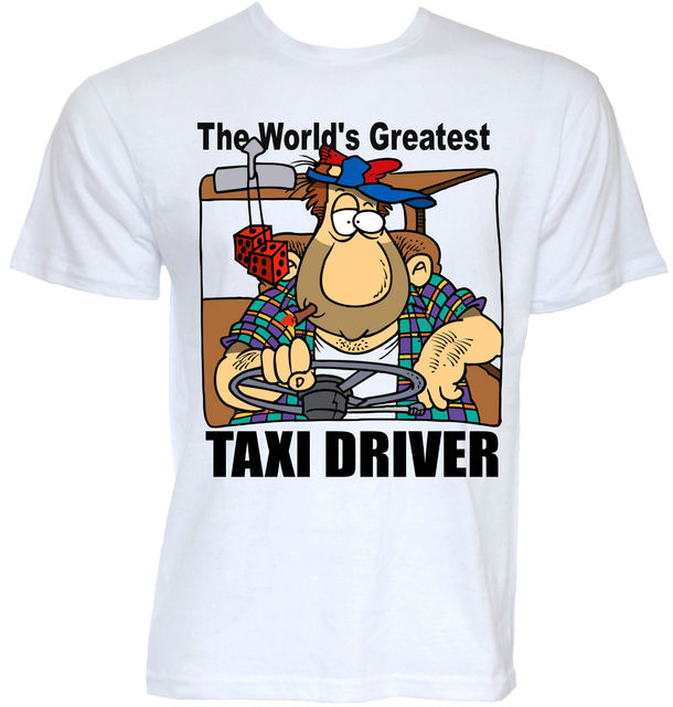 Mens Funny Cool Novelty Taxi Driver T Shirts Driving Gifts