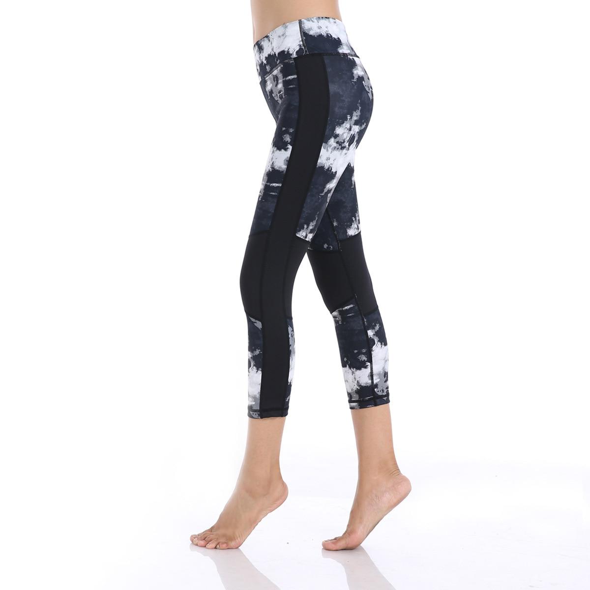 Yoga Compression Pants Sports Gym Tights Sportswear Leggings Sports Fitness Slim Mesh Yoga Pants Leggings For Women