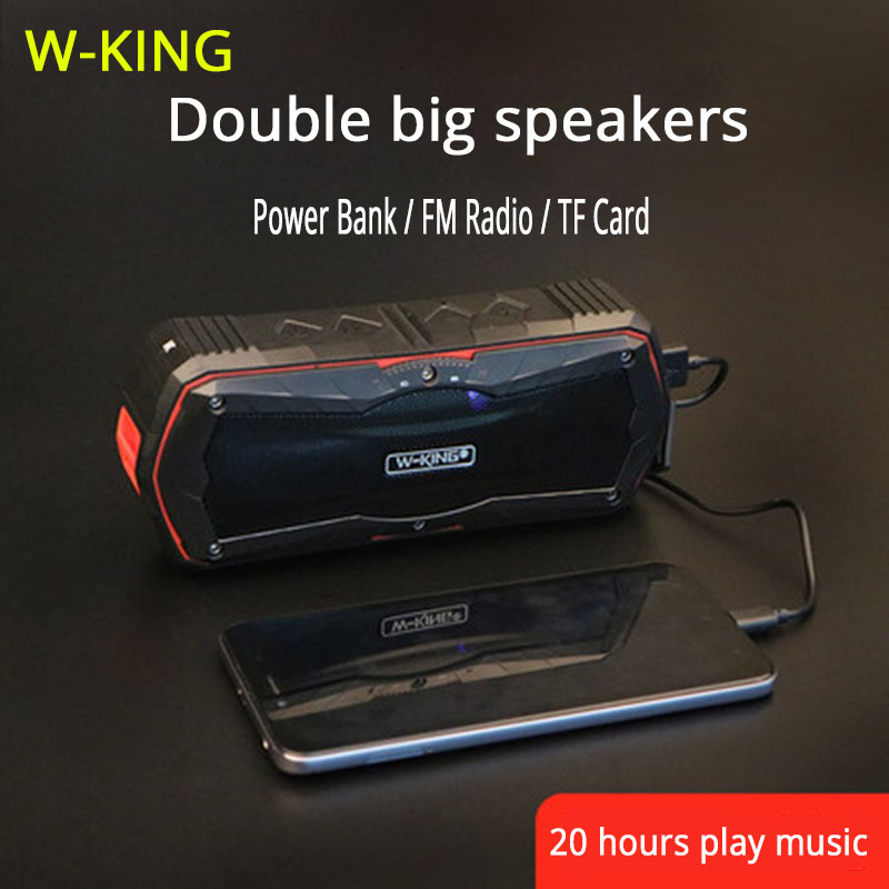W-KING Wireless Speakers Bluetooth Subwoofer Speaker For Wireless Charger For Mobile Phone Caixa De Som Portatil Bluetooth Audio