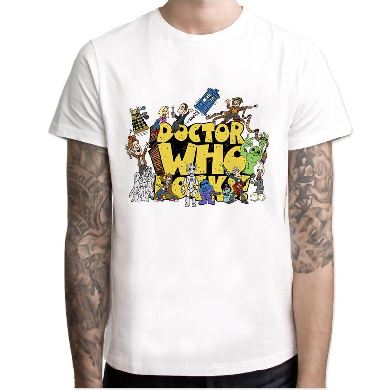 Doctor Who Rocks T-Shirt men 2017 Summer Fashion Tops tees Hot Men T Shirts Print Casual Cool male T-Shirt