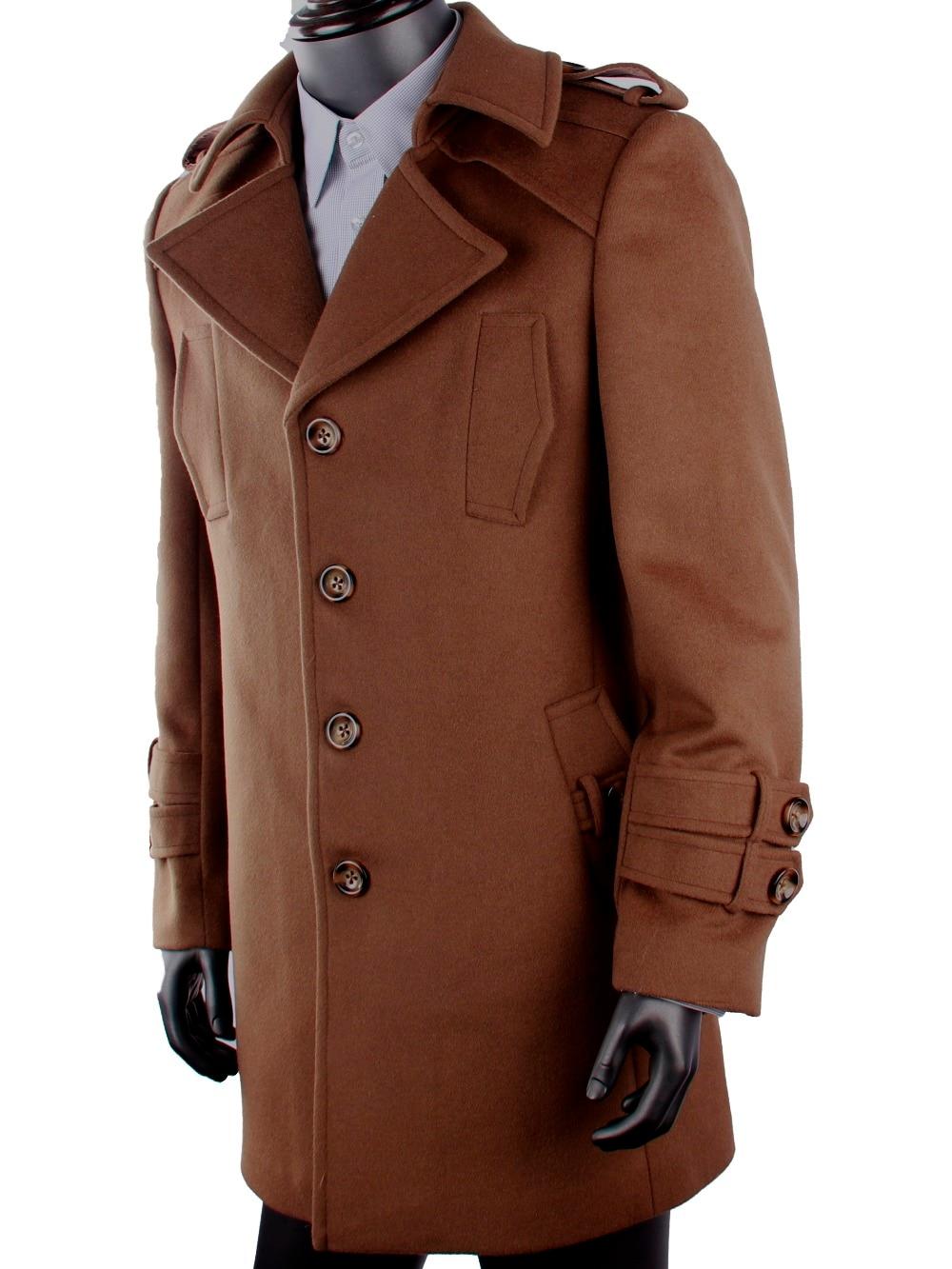 5dark Coats Blends Overcoat Custom Long Inamp; Coat Made Single Brown Men Winter Breasted Us179 CoatCashmere Wool For FKJT1lc3u5