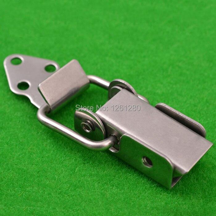 Livraison gratuite métal moraillon en acier inoxydable boucle air boîte serrure sac matériel partie boîte à outils cadenas industrie équipement attache