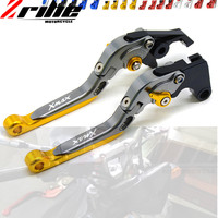 with logo XMAX Motorcycle CNC aluminum Adjustable brake clutch levers For Yamaha X MAX 250 300 400 handle bar accessories