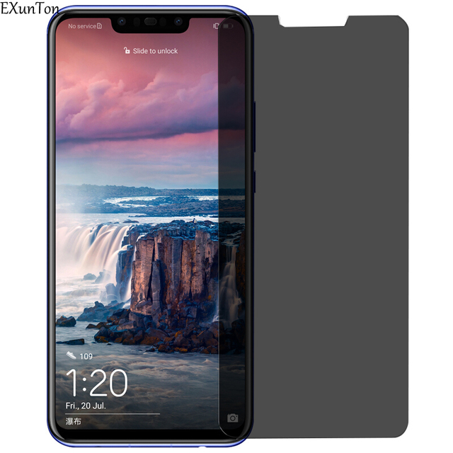 EXUNTON 9H זכוכית עבור Huawei נובה 3 3i 3E בתוספת לייט Nova3 Nova3i Nova3E Anti spy פרטיות מזג זכוכית מסך מגן סרט חדש
