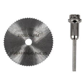 7x HSS Circular Wood Cutting Saw Blade Discs Mandrel Mini Drill For Rotary Tool фото