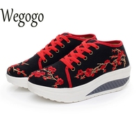 Chinese Women Shoes 2017 Spring Comfortable Old BeiJing Embroidery Travel Tourism Plum Floral Ballet Shoes Woman