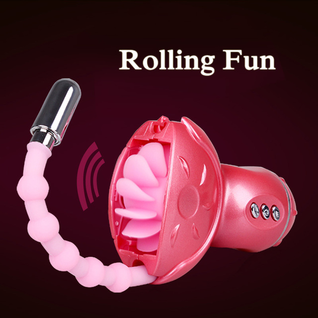toys sessuali donna  Rolling Fun Oral Sex Toys per le Donne, rotolamento Tongue G Spot ...