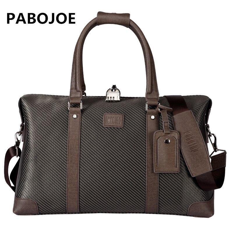 Pabojoe модные однотонные парусиновые Для мужчин путешествия большой вещевой Ёмкость Универсальный Дорожные сумки
