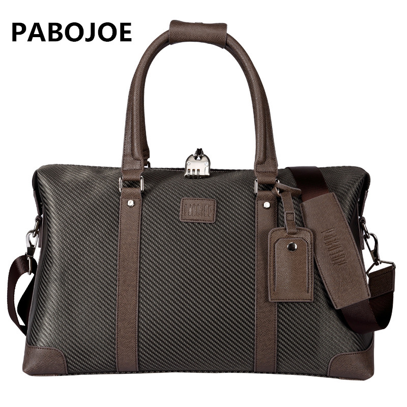 Pabojoe Fashion Solid Canvas Men Travel Duffle Big Capacity Versatile Travel Bags pabojoe duffle bags 100