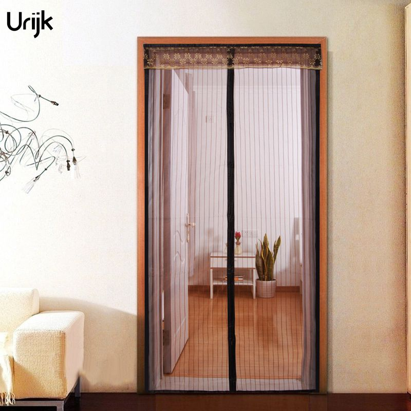 Urijk 1PC Moustiquaire Fenetre Anti Mosquito Insect Fly Curtains Magnetic Mesh Net Curtain Automatic Closing Door Screen Kitchen